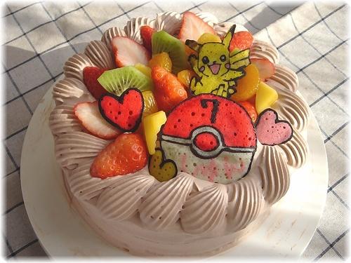駿7才のバースデーケーキ